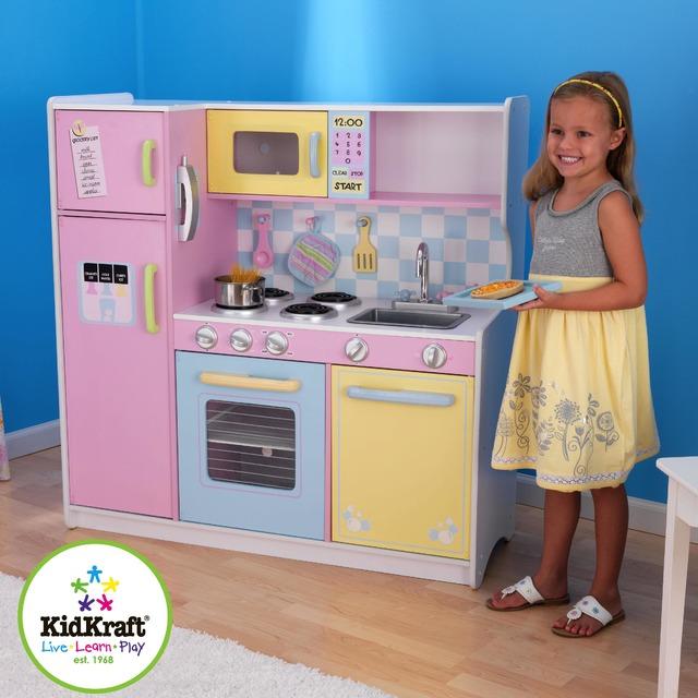 Детская деревянная кухня Kidkraft пастельная 53181