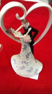 Свадебная пара Сердце (24 см)