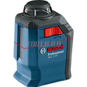 Bosch GLL 2-20 + BM3 + кейс - лазерный нивелир