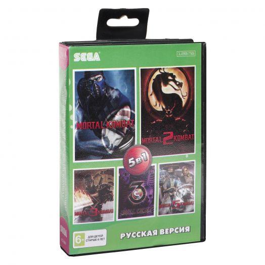 Sega картридж 5в1 (AC-5001) MORTAL KOMBAT 3 ULTIMATE /MORTAL KOMBAT 1, 2, 3, 5
