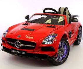 Электромобиль RiverToys Mercedes-Benz SLS (лицензия) ( видео в описании )