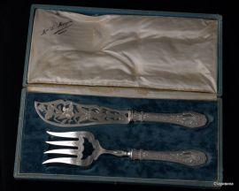 Набор для рыбы, столовое серебро, Франция, кон. 19в.