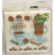 Салфетки 25*25 40шт Belux Чай-кофе 1-сл /48 1317