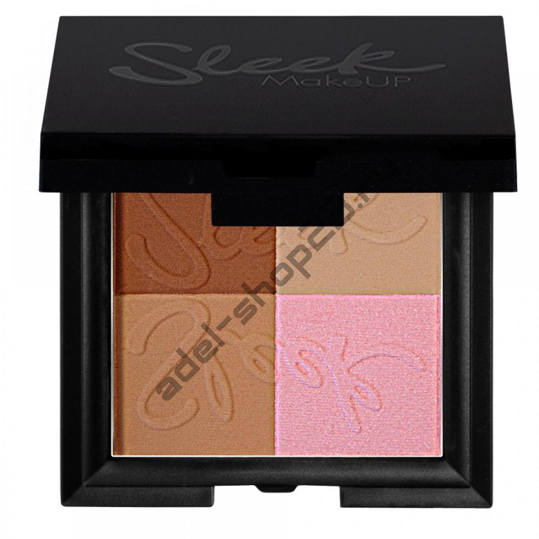 Sleek MakeUp - Пудра Бронзирующая 4 в 1 Bronze Block