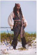 Автограф: Джонни Депп. Пираты Карибского моря