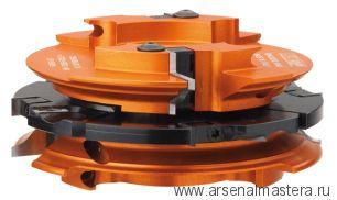 CMT 694.015.35 Комплект дверной 3 фрез F35 D160x48 насадных (алюм) смен.ножи HM (кейс)