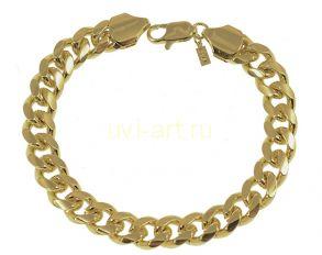 Стильный мужской позолоченный браслет, 11 мм