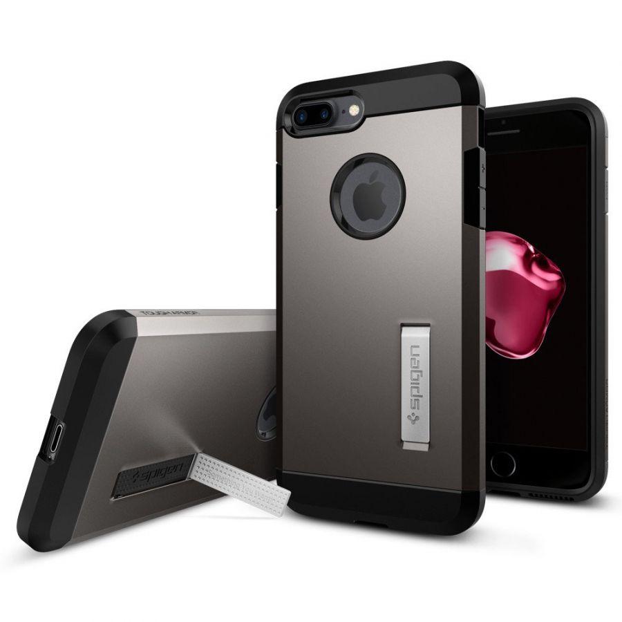 Чехол Spigen Tough Armor для iPhone 7 Plus темный металлик