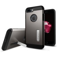 Чехол Spigen Tough Armor для iPhone 7 Plus темный металлик