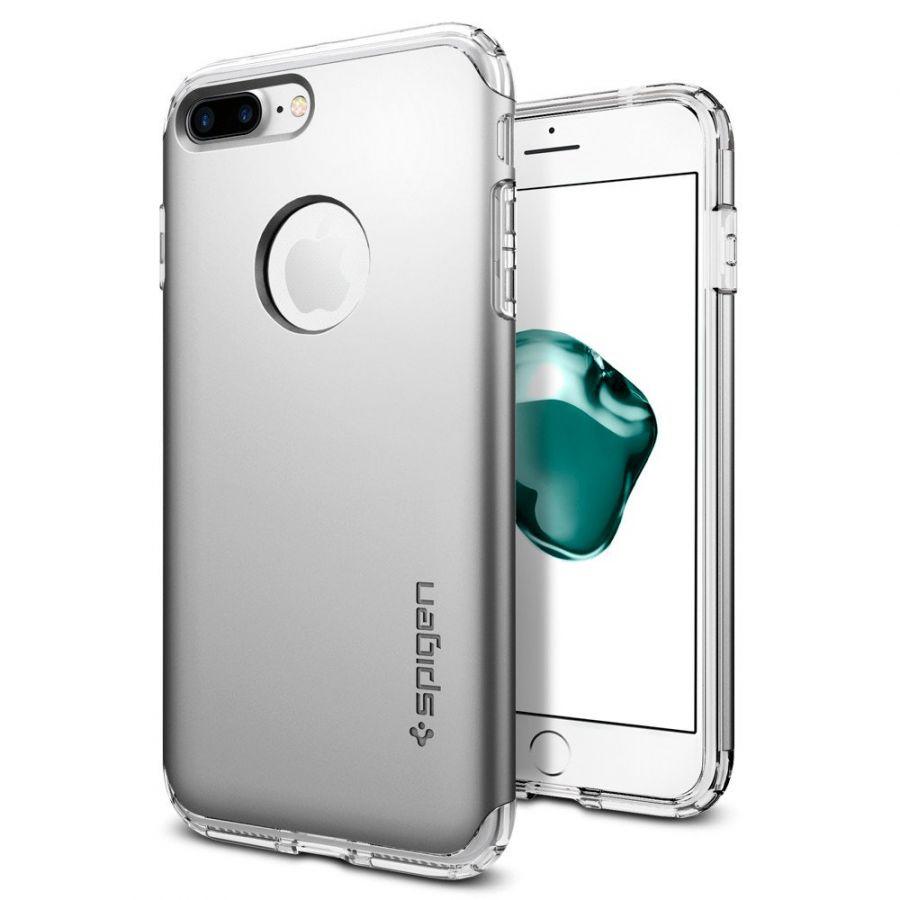 Чехол Spigen Hybrid Armor для iPhone 7 Plus серебристый