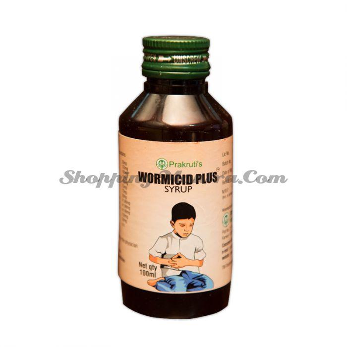 Сироп Вормисид Плюс Пракрути натуральный антигельминтик   Prakruti Remedies Wormicid Plus Syrup