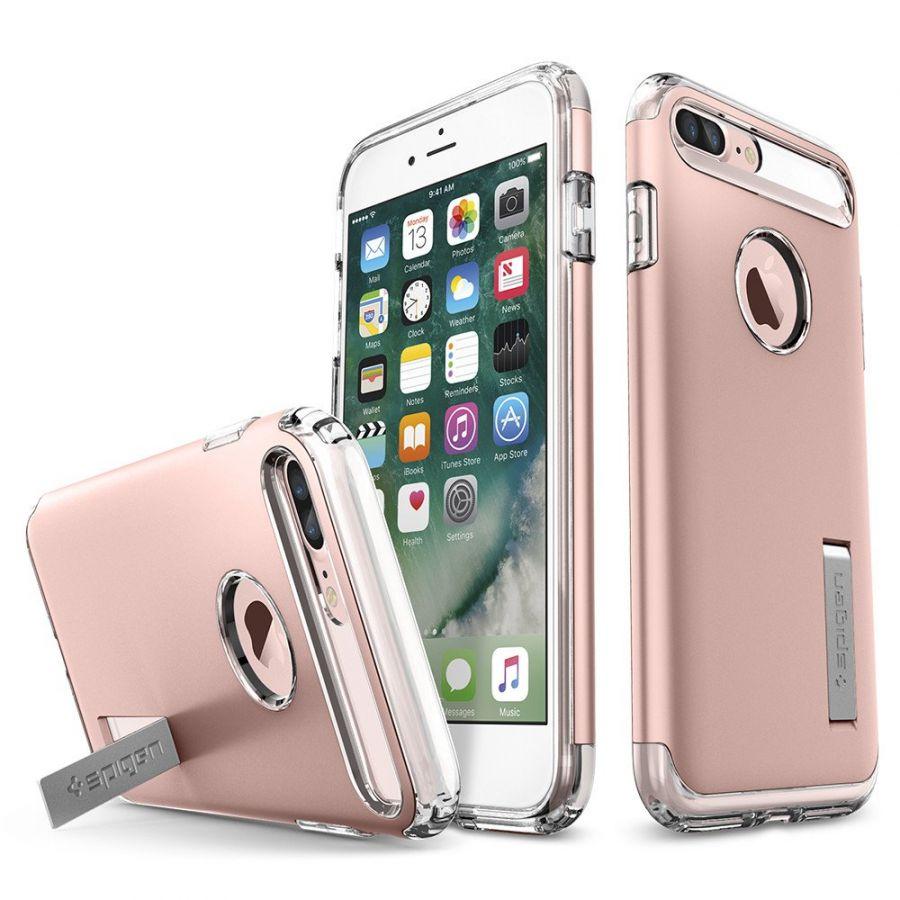 Чехол Spigen Slim Armor для iPhone 7 Plus розовое золото