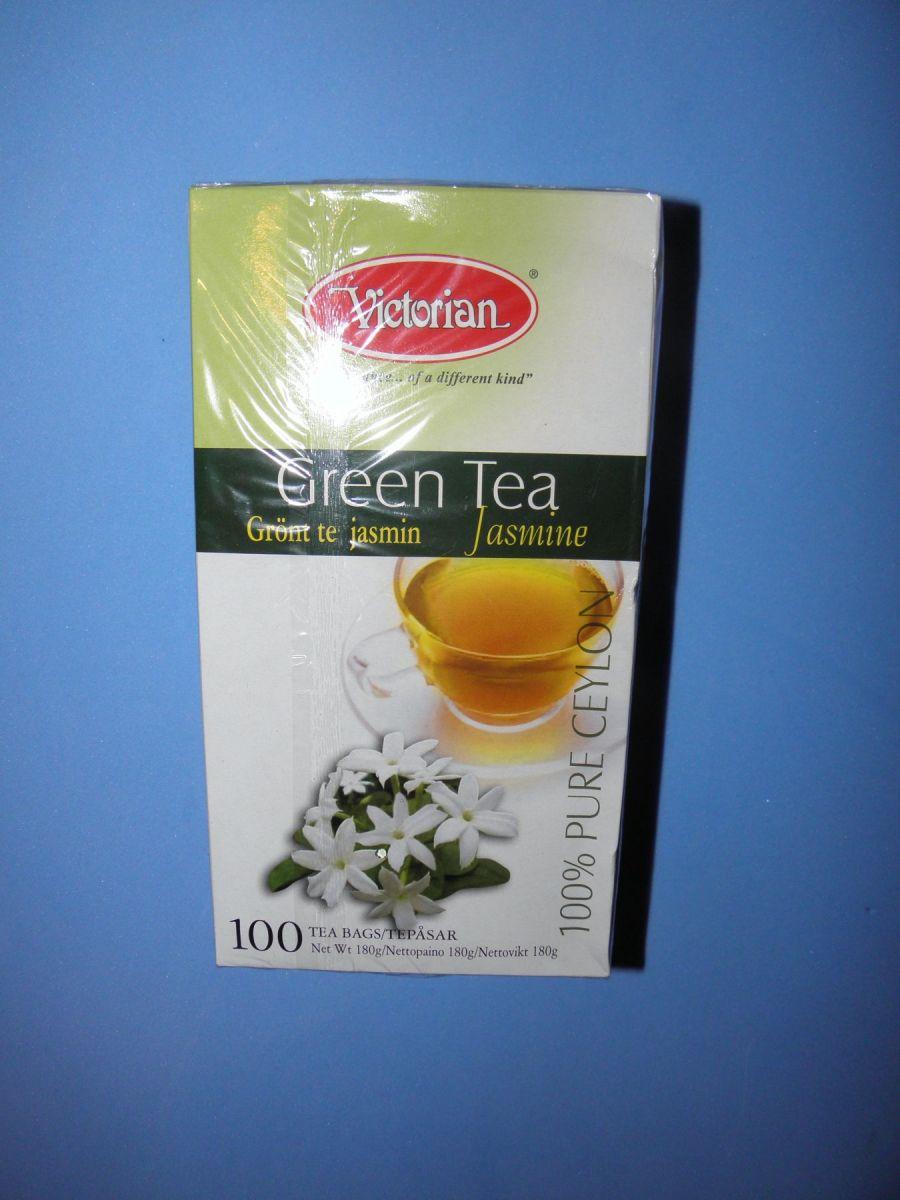 Чай Victorian Green Tea Jasmine (зеленый с жасмином) 100 пакетов