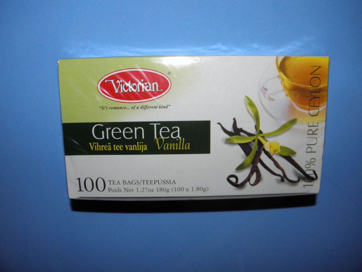 Чай Victorian Green Tea Vanilla (зеленый с ванилью) 100 пакетов
