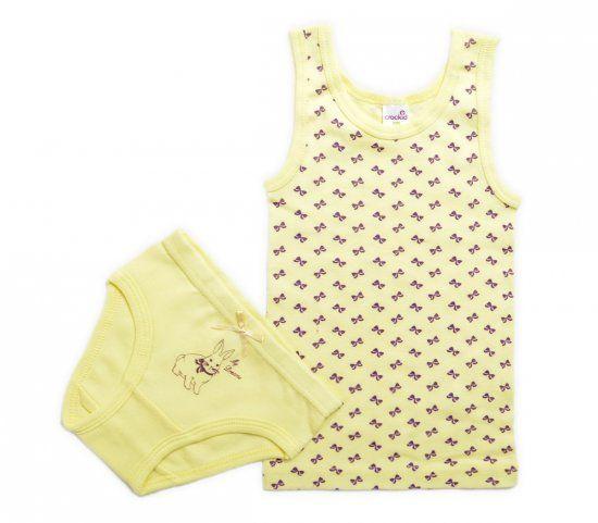 Комплект белья для девочки желтого цвета