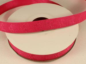 Лента декоративная, ширина 15 мм(213010), цвет: №3 ярко-розовый (бобина 20+-0,3 ярдов)