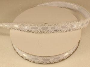 `Лента декоративная, ширина 15 мм(213130), цвет: №8 белый