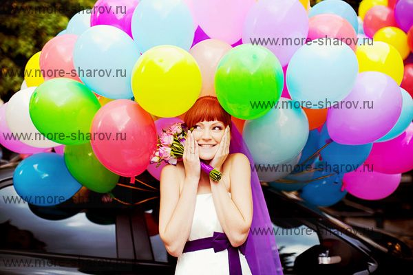 Разноцветные шары 200 шт