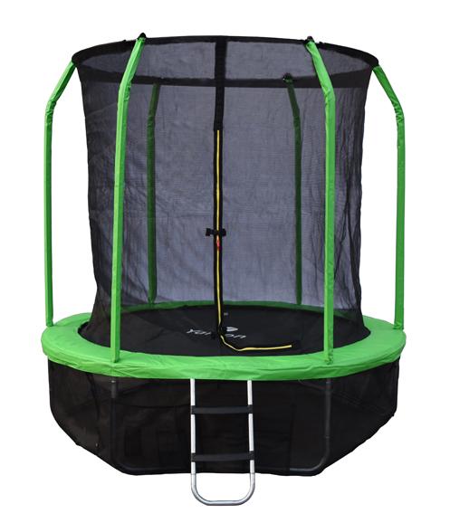 Батут с внутренней защитной сеткой - Yarton 6FT (1,83м), цвет зеленый
