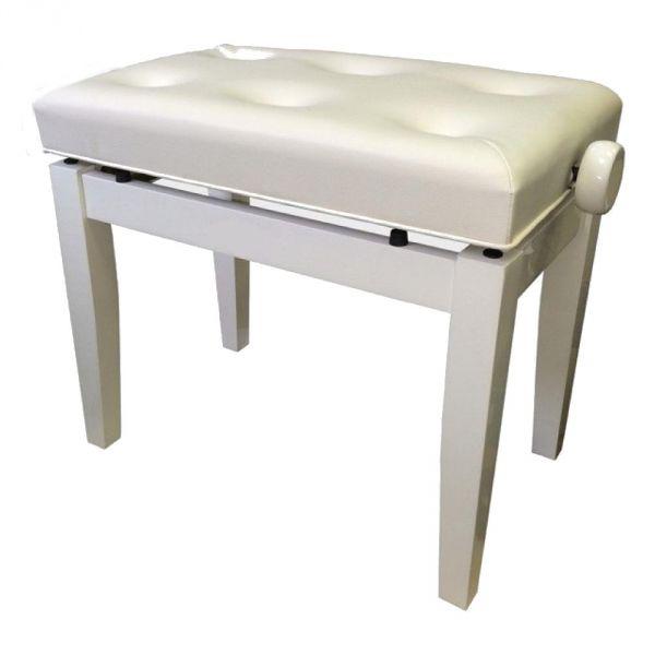 Банкетка для пианино или рояля KONIG KPB-201/WH деревянная