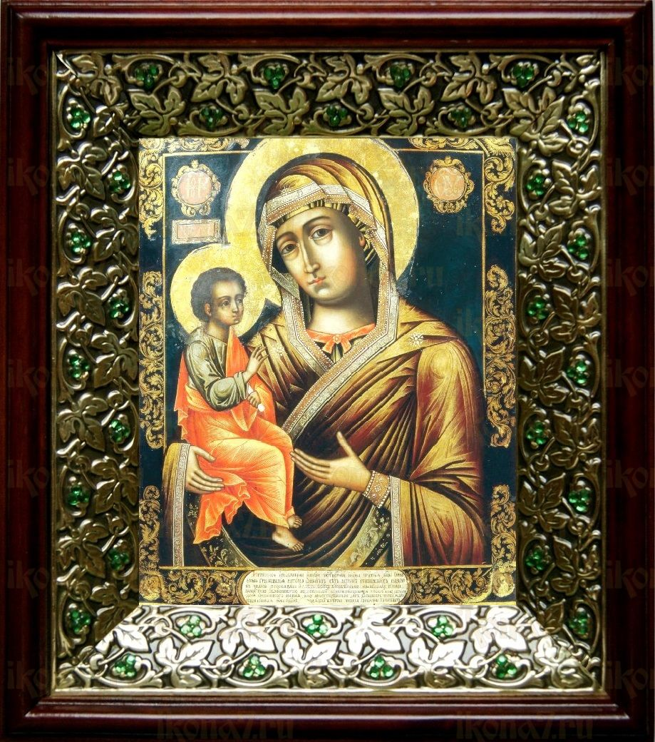 Гребневская икона БМ (21х24), киот со стразами