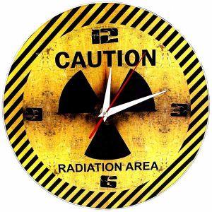 Часы Caution (стеклянные)