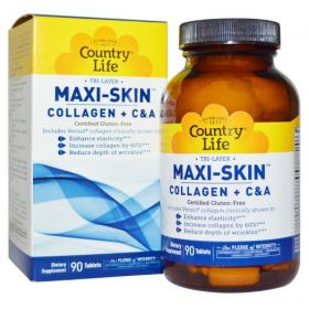 Country Life Tri Layer Maxi-Skin Collagen Plus C&A  (90 табл.)