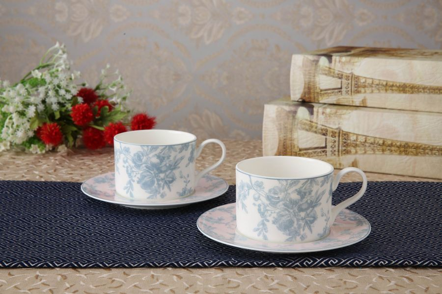 "Чайный набор на 2 персоны ""Жардан Блю"", 4 пр."