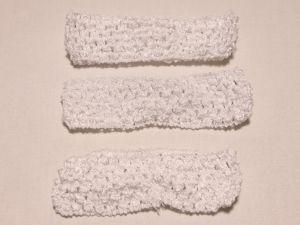 `Повязка ажурная, 45 мм, цвет №01 белый