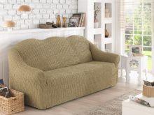 Чехол для двухместного дивана (бежевый) Арт.2651-1