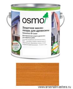 Защитное масло-лазурь для древесины для наружных работ OSMO Holzschutz Ol-Lasur 728 Кедр 2,5 л