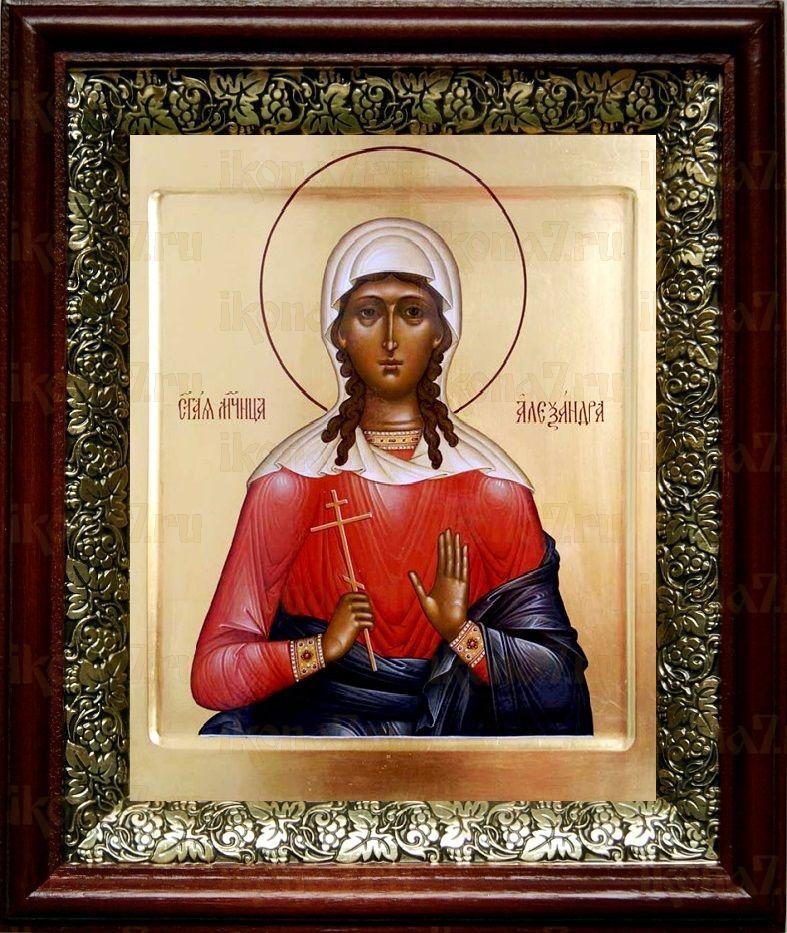 Александра Коринфская (19х22), темный киот