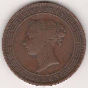 5 центов 1870 г. Цейлон