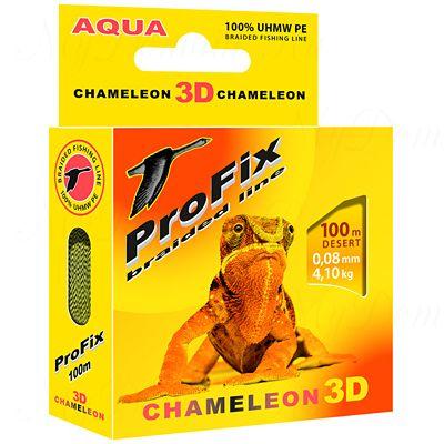 Плетеный шнур AQUA PROFIX Chameleon 3D 100m desert, 0.14mm