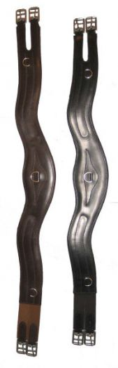 """Подпруга универсальная """"Equitare"""" Кожа. Анатомическая. Резинки с 2-х сторон."""