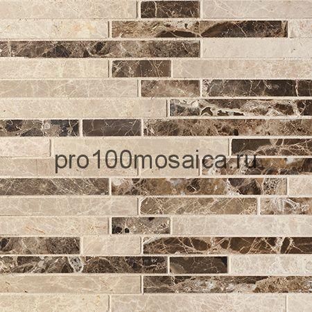 CV20081 Strips Mix.Polished Light Emperador+Dark Emperador 305x305х10 мм (Colori Viva)