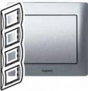 Рамка Legrand Galea Life 4 поста верт. Aluminium (арт.771308)