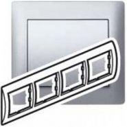 Рамка Legrand Galea Life 4 поста гориз. Aluminium (арт.771304)