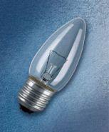 Лампа накаливания свеча 40W E27 прозрачная