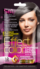 Cтойкая крем-краска для волос серии «Effect Сolor» 50 мл, тон черный