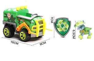 Фигурка Роки на машинке мусоровоз с музыкой и светом, серия Джунгли