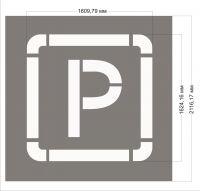 Трафарет дорожной разметки - Парковка (парковочное место)