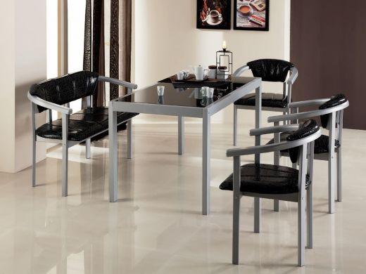 Стол обеденный со стеклом