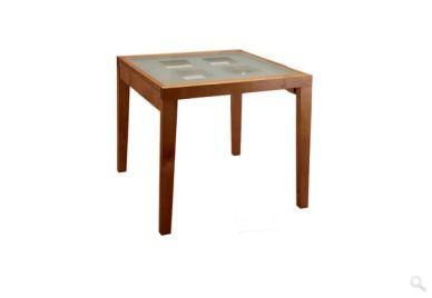 Стол обеденный раздвижной со стеклом