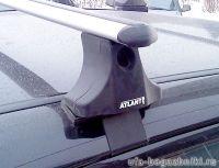 Багажник на крышу на Mitsubishi L200 вып.2007г. -... (Атлант, Россия), аэродинамические дуги