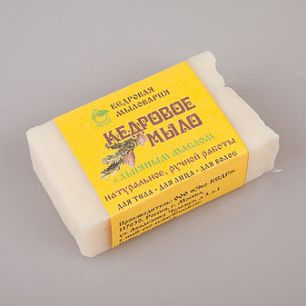 """""""Эко-кедр"""" Мыло кедровое с льняным маслом, 115гр"""