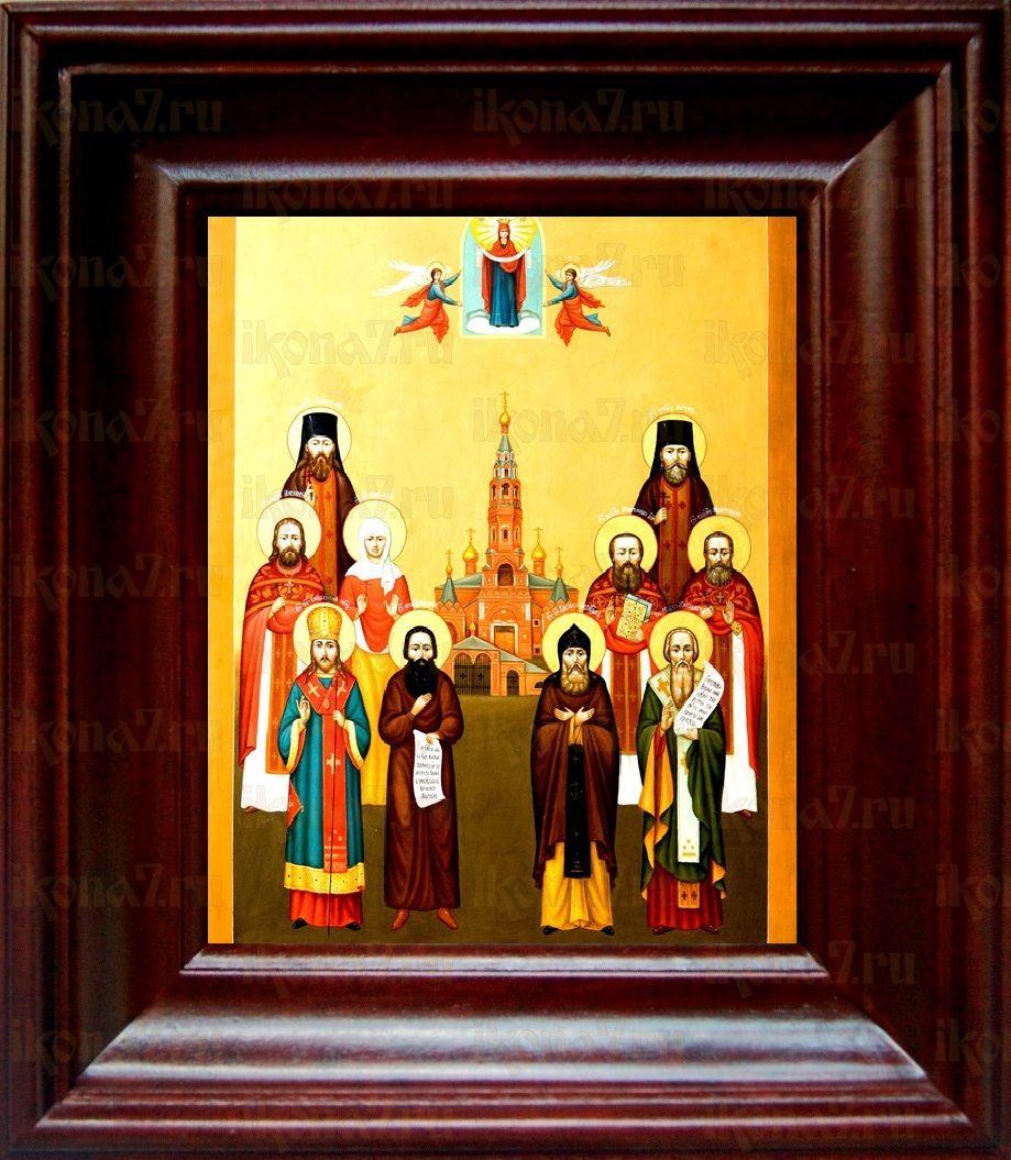 Иннокентий Пензенский и собор чтимых святых земли павлово-посадской (21х24), простой киот
