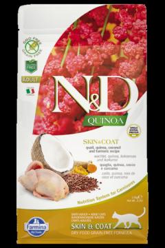N&D Cat Quinoa Skin&coat Quail (Перепел, киноа, кокос и куркума. Здоровье кожи и шерсти.)
