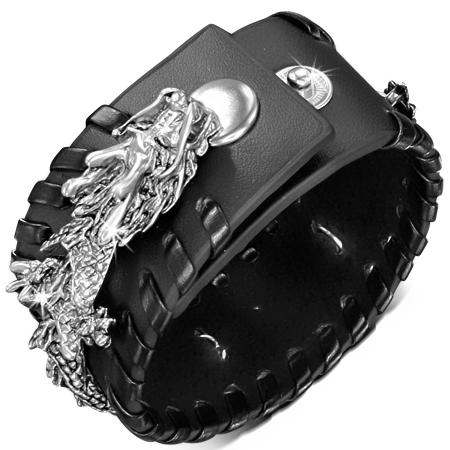 Стилизованный кожаный браслет LBHY50511