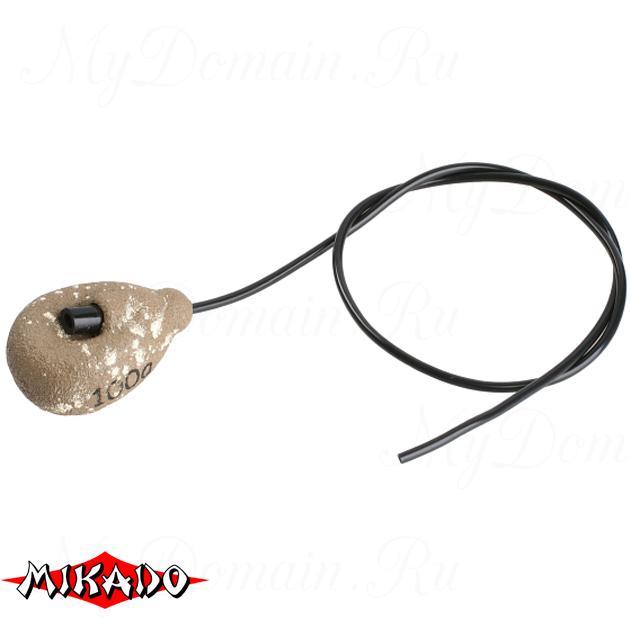 Грузило карповое Mikado с антизакручивателем. асимметричное (песочный) 12S  80 г.  уп.=10 шт., упак